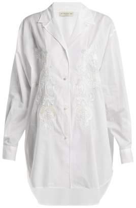 Etro Jade Sequin Embellished Cotton Shirt - Womens - White