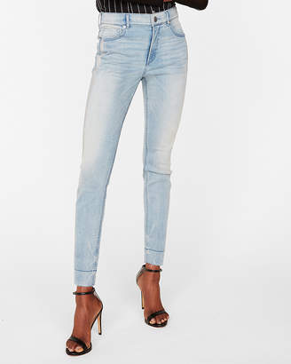 Express High Waisted Side Stripe Denim Perfect Stretch+ Ankle Leggings