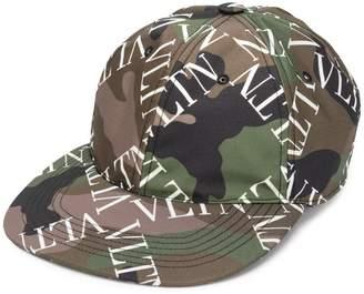 896b0daa93a8d Valentino camouflage logo grid print hat