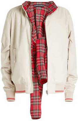 Y/Project Bomber Jacket with Tartan Sleeves