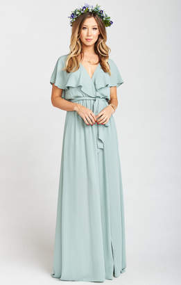Show Me Your Mumu Audrey Maxi Dress ~ Silver Sage Crisp