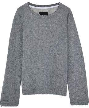 RtA Metallic French Cotton-Blend Terry Sweatshirt