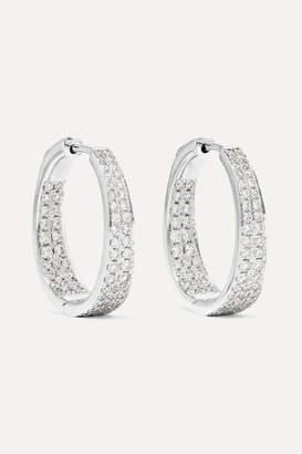 Anita Ko Meryl 18-karat White Gold Diamond Hoop Earrings
