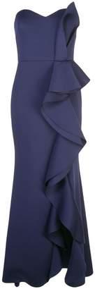 Badgley Mischka empire line frilled dress