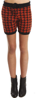 3.1 Phillip Lim Houndstooth Short in Rust/Navy