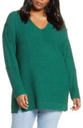 Caslon Boucle Tunic Sweater