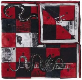 Alexander McQueen snakes and ladder-print foulard