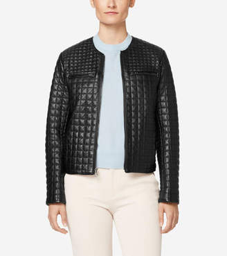 Cole Haan Quilted Collarless Jacket