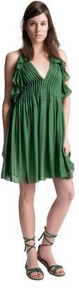 Max Studio silk mesh chiffon dress
