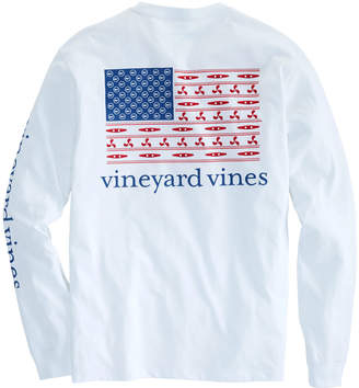 Vineyard Vines Long-Sleeve Boating Flag Pocket T-Shirt