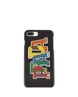 Prada Saffiano Logo Patch iPhone 7 Plus Case