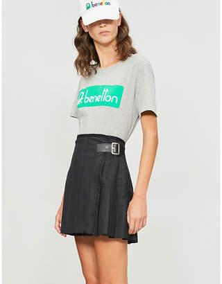 Benetton Unisex logo-embroidered cotton-jersey T-shirt