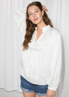 And other stories Billowy Tie Neck Blouse