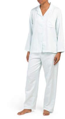 Brush Backed Satin Pajama Set