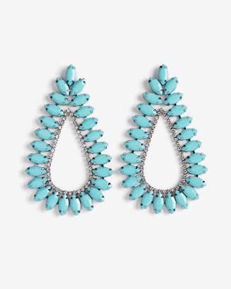 Express Navette Stone Teardrop Earrings
