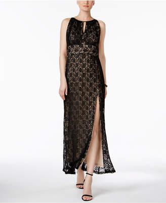R & M Richards Lace Halter Gown $119 thestylecure.com