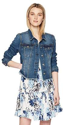 Silver Jeans Co. Women's Saylor Cropped Hooded Denim Vest