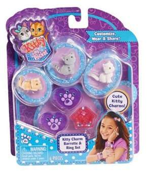 Kitty In My Pocket 3 Charm Kitties Barrette And Ring Set (Purple)