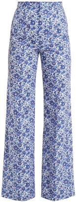 THE VAMPIRE'S WIFE Liberty-print wide-leg cotton trousers