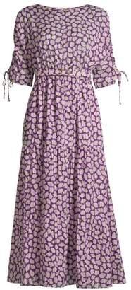 Kate Spade Sunny Bloom A-Line Midi Dress