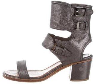 Laurence Dacade Herlin Metallic Sandals $245 thestylecure.com