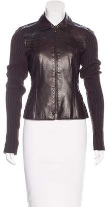 Akris Leather Zipped Jacket