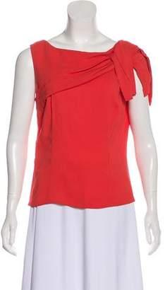 Prada One-Shoulder Drape-Accented Top