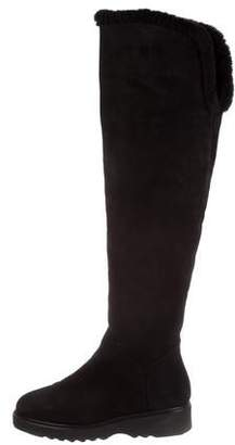 Aquatalia Suede Over-The-Knee Boots