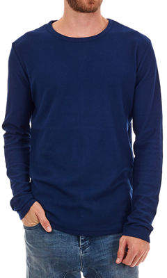 Px Clothing Men's Milo Long Curved-Hem Waffle T-Shirt
