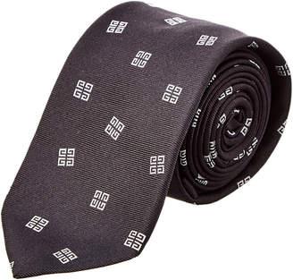 Givenchy Black Logo Silk Tie