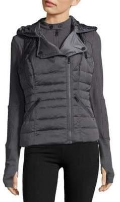 Blanc Noir Three-In-One Packable Down Moto Jacket