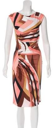 Emilio Pucci Printed Ruched Dress