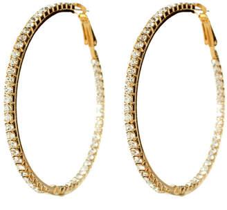 Amrita Singh Crystal Hoop Earrings