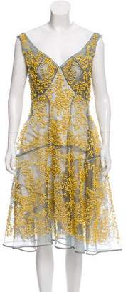Zac Posen Embellished A-Line Dress w/ Tags