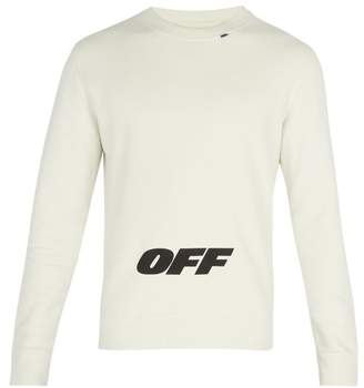 Off-White Off White Wing Logo Cotton Sweatshirt - Mens - White