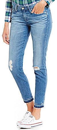 Big StarBig Star Alex Destructed Relase Hem Skinny Ankle Jeans