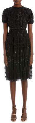Needle & Thread Jet Frill Dress DR0006AW17