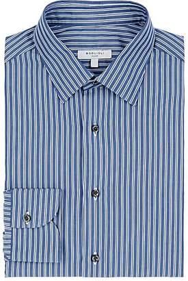 Boglioli MEN'S STRIPED COTTON POPLIN DRESS SHIRT - STRIPE SIZE 15