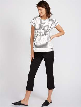 A Pea in the Pod Secret Fit Belly Twill Boot Cut Maternity Pants