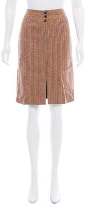 Mayle Patterned Knee-Length Skirt