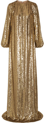 Michael Kors Collection - Metallic Fil Coupé Organza Gown - Gold
