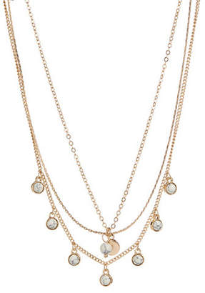 JORDYN G Three-Row Howlite-Charm Choker Necklace