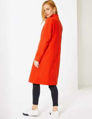 Marks and Spencer PETITE Funnel Neck Coat