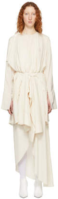 Awake Ivory Draped Dress