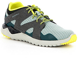 Merrell 1SIX8 Mesh and Leather Lace Up Athletic Sneakers $90 thestylecure.com