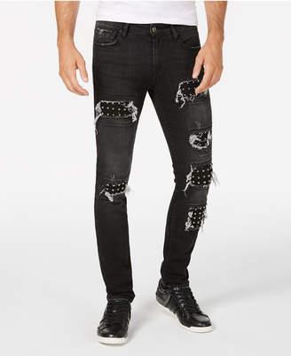 GUESS Men's Multi-Stitch Slim-Fit Tapered Jeans