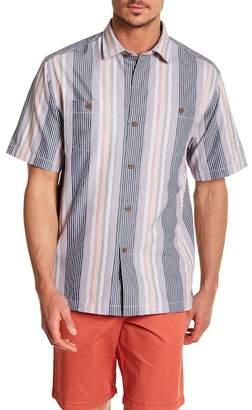 Tommy Bahama Narcia Stripe Standard Fit Short Sleeve Shirt
