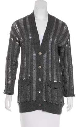 360 Cashmere Wool Knit Cardigan