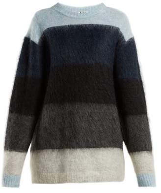 Acne Studios Albah Striped Sweater - Womens - Blue Multi