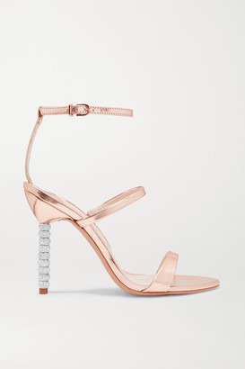 Sophia Webster Rosalind Crystal-embellished Metallic Leather Sandals - Pink